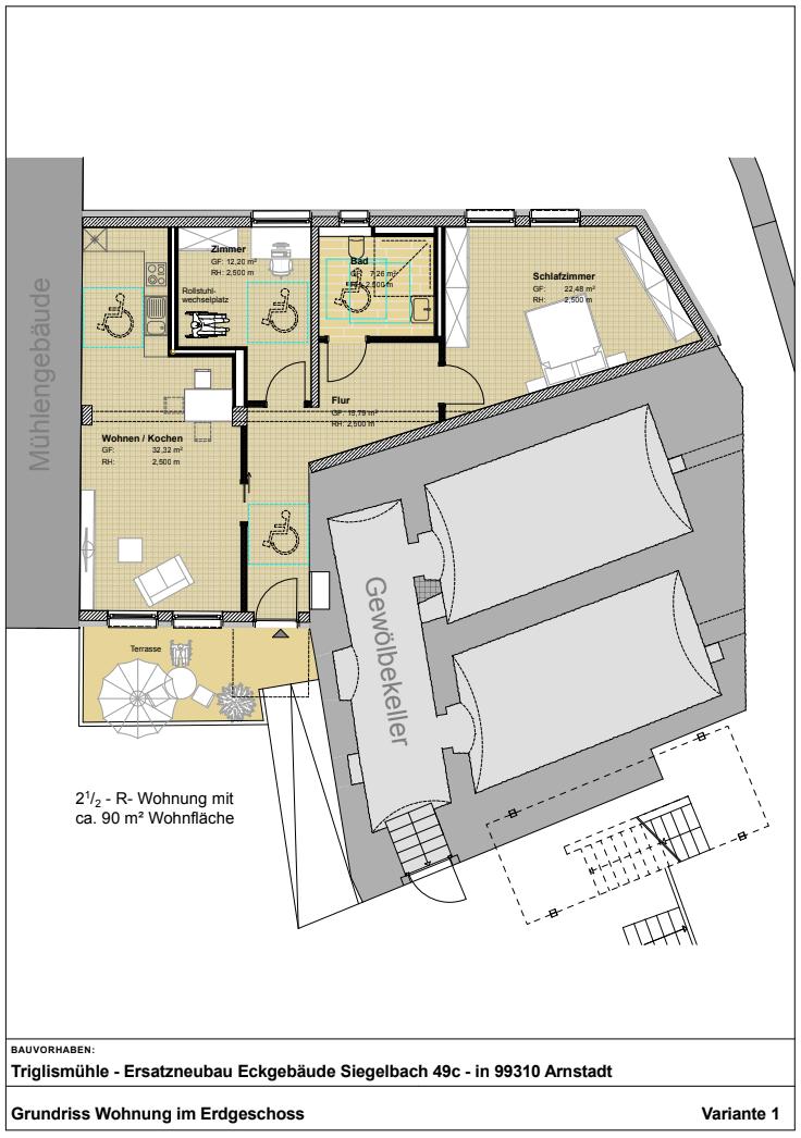 Wohnung Variante 1 Grundriss